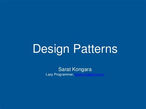 design pattern slideshare design patterns