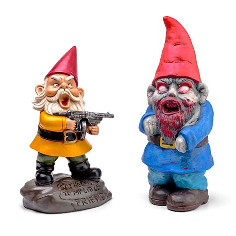 Outdoor Fans With Lights by Zombie Apocalypse Garden Gnomes Thinkgeek