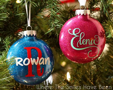 ornament personalized diy personalized glitter ornaments