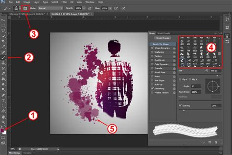membuat video effect tutorial membuat splatter effect di photoshop part 2