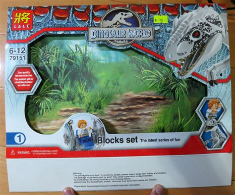 Lego Lele lego jurassic world indominus rex lele bootleg 79151 revie