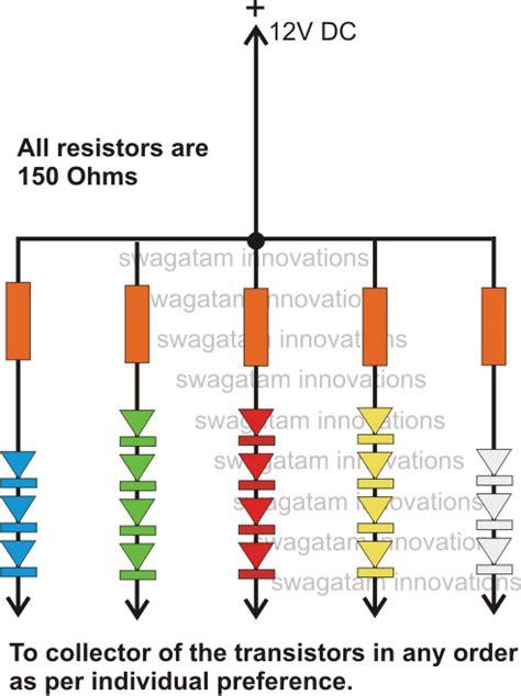 led string resistor 200 led forward light chaser circuit for diwali decorations