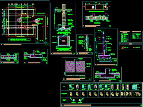 raft foundation dwg block  autocad designs cad