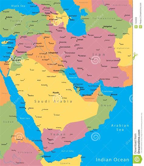 de kaart van het midden oosten royalty vrije stock foto s