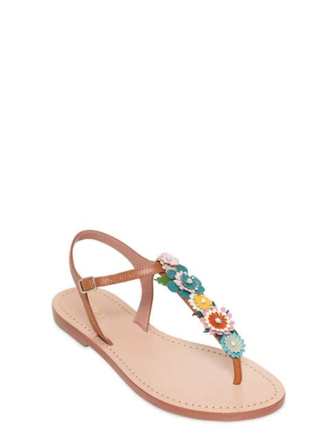 10 Best Valentino Shoes by Valentino 10mm Leather Flower Sandals In Lyst