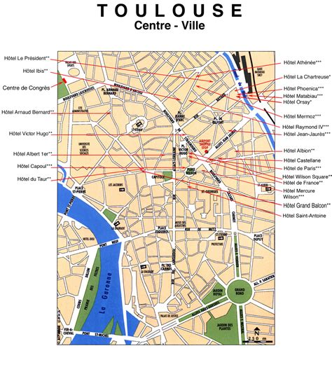 map of toulouse toulouse hotel map toulouse mappery