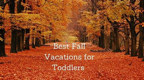 best fall vacations with toddlers family vacations u s