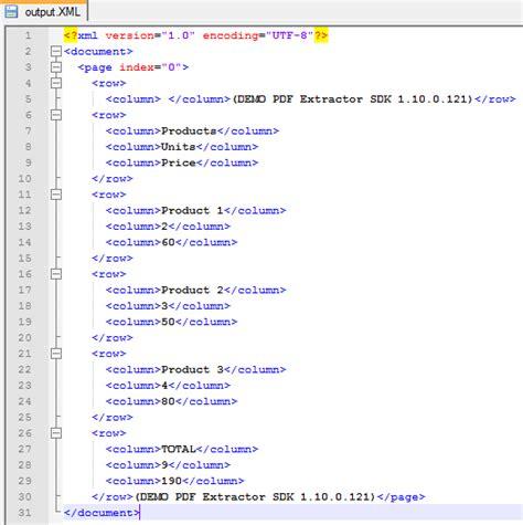 open xml tutorial pdf convert table in pdf to xml file in c vb net vbscript