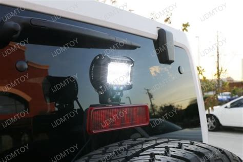 led backup lights jeep 2007 2017 jeep wrangler jk above 3rd brake l led pod light