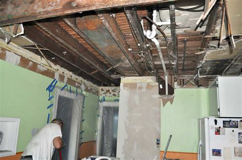kitchen progress removing drywall plaster and lath