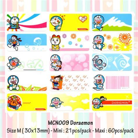 Stiker Label Nama Mix Karakter Paket B Stationery Sekolah jual sticker label nama waterproof doraemon m maxi joyk sticker waterproof