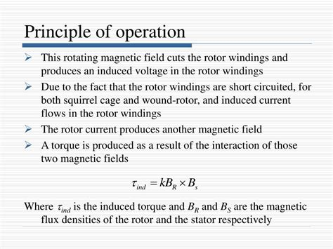 principle of operation of induction motor pdf ppt induction motors powerpoint presentation id 752079