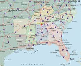 road map eastern united states pin southeast states and capitals map image search results