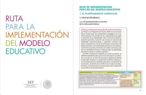 modelo educativo inicio ruta para la implementaci 243 n del modelo educativo