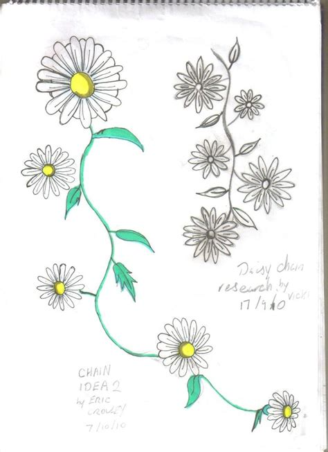 daisy tattoos and designs page 117