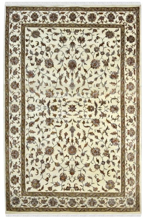 floral whimsy ecru small allover flowers from northcott buy pure floral rug all over kashan rug natural wool