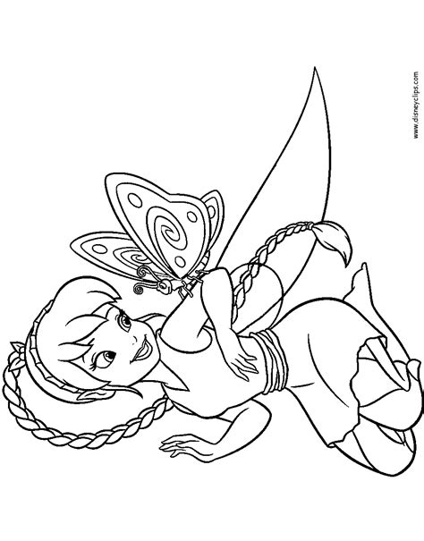 Disney Fairies Tinker Bell And Fawn Printable Coloring Fawn Coloring Pages