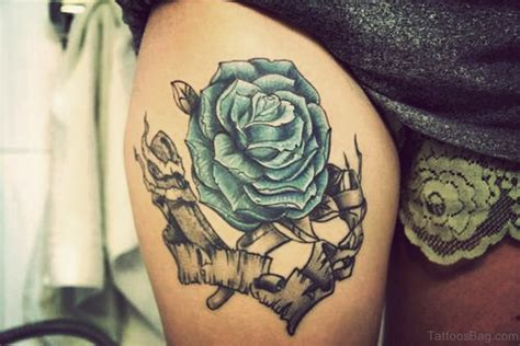 rose thigh tattoos tumblr 12 lovely blue thigh tattoos