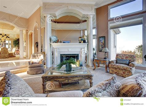 rich living room amazing rich interior with antique furniture royalty free stock photography image 37512027