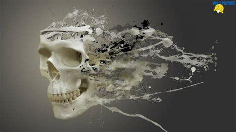 3d wallpaper 1600 x 900 disintegrating skull wallpaper 1600 215 900 creative design