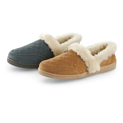 house shoes womens women s clarks quilted slippers 614489 slippers at sportsman s guide