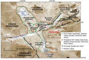 calico california map maps calico mountains archaeological site