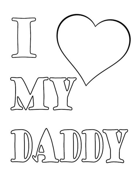 printable coloring pages i love my daddy u of i love my daddy coloring pages print coloring pages
