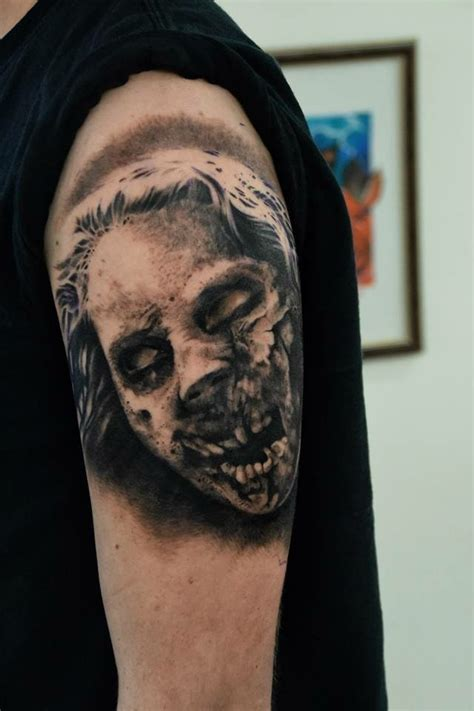 these zombie tattoos have us hungry for more brains