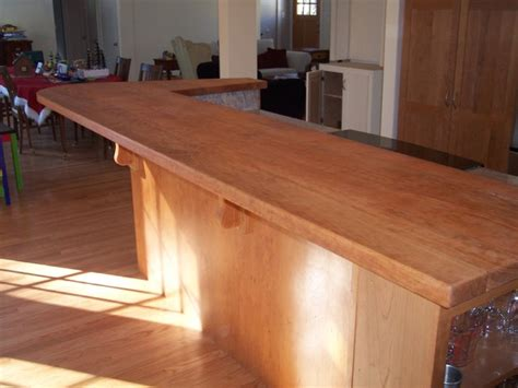 how to make a bar top out of wood custom cherry bar top modern