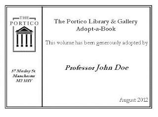 Adopt A Book 2 by The Portico Library Play Your Part In Ensuring The Future
