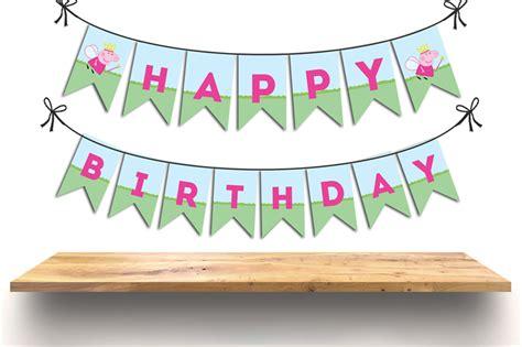 free printable birthday banner peppa pig printable peppa pig banner happy birthday pretty