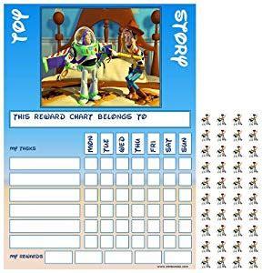 printable reward charts toy story toy story buzz woody good behaviour reward task chart with