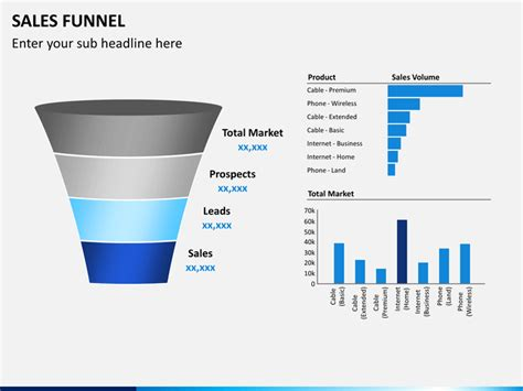powerpoint template funnel sales funnel powerpoint template sketchbubble