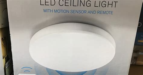costco motion sensor light winplus winplus led ceiling light with motion sensor and remote costco weekender