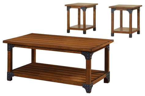 coffee table kit country style curran country style 3 table set coffee table sets by mattress empire more