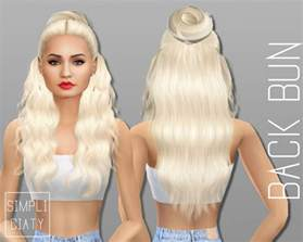 cc hair for sism4 sims 4 cc s the best accessory hair buns by simpliciaty