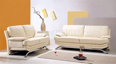 Beige Leather Living Room Set Beige Leather Living Room Set With Metal Legs