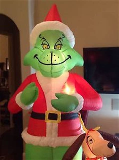 grinch inflatable grinch max 8 ft gemmy airblow up yard decoration dr seuss ebay