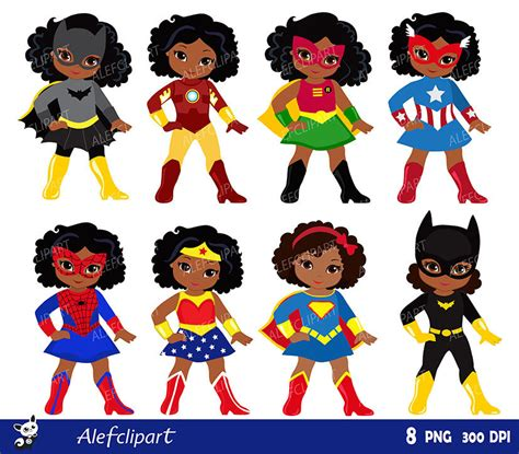 super girl themes v 1 girls african american in superhero costume instant