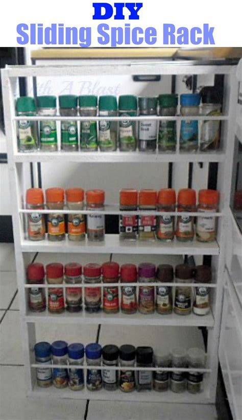 diy inside cabinet spice rack my new sliding spice rack diy cabinets tutorials and spice racks