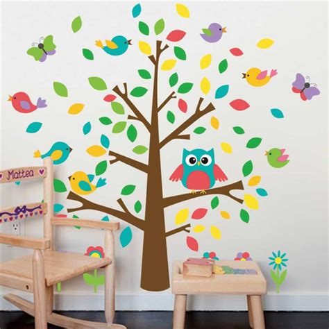 playroom wall stickers aliexpress buy owls birds tree wall stickers playroom decoration nursery