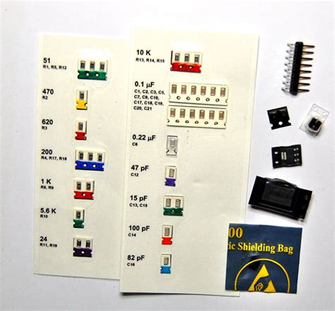 smd capacitor work 187 kit with smd parts 187 jeelabs