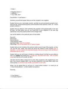 write a quot neighbor letter quot and sell your property fast