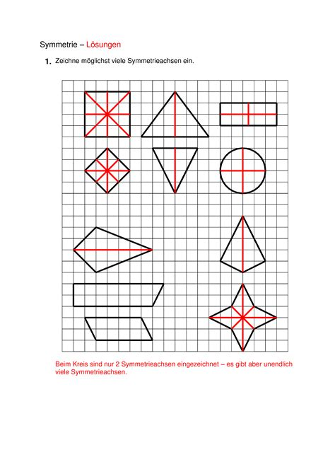 geometrie klasse  symmetrie und symmetrieachsen
