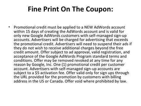 how to get a free google adwords coupon