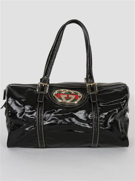 Gucci Britt Medium Purse by Gucci Britt Medium Boston Bag Black Luxury Bags