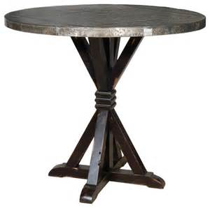Rustic Bistro Table And Chairs Carlo Bar Table With Zinc Top Rustic Indoor Pub And Bistro Tables Los Angeles By Next