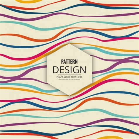 modern pattern vector ai modern pattern of colored waves vector free download