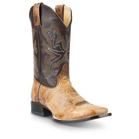 toe cowboy boots for s stetson 11 quot wide square toe cowboy boots 608726