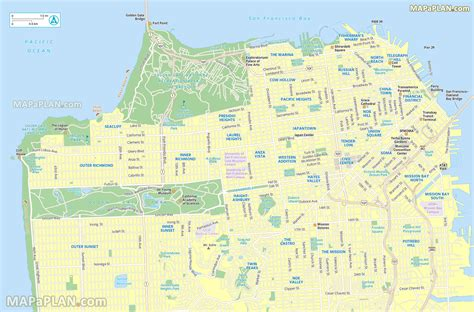 san francisco map tourist attractions san francisco map interesting spots including fisherman